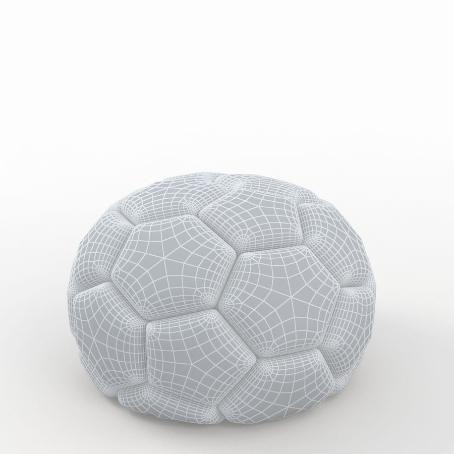 Soccerball semiempty royalty-free 3d model - Preview no. 7
