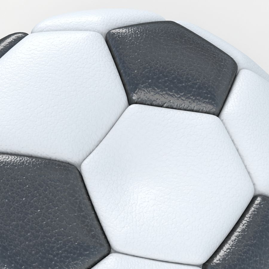 Soccerball vide royalty-free 3d model - Preview no. 4
