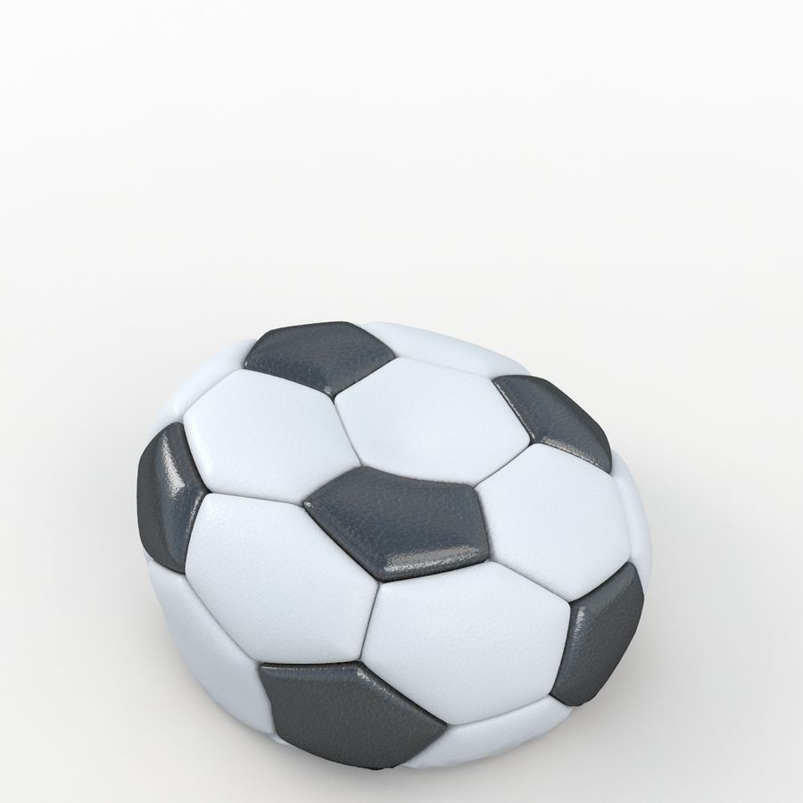 Soccerball vide royalty-free 3d model - Preview no. 5