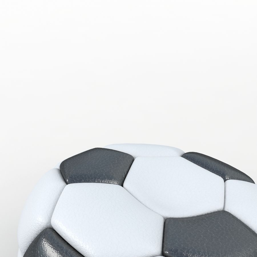 Soccerball vide royalty-free 3d model - Preview no. 3