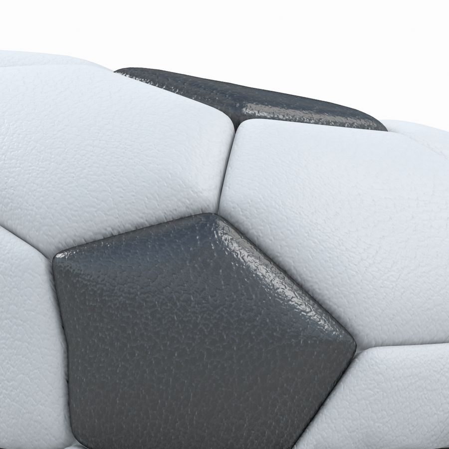 Soccerball vide royalty-free 3d model - Preview no. 6
