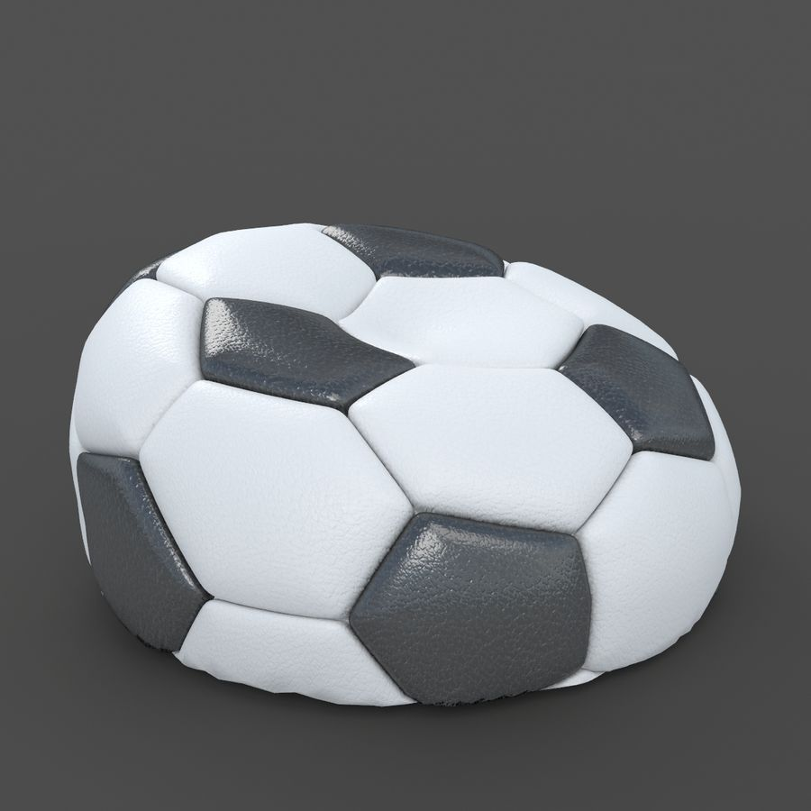 Soccerball vide royalty-free 3d model - Preview no. 1