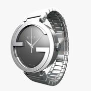 Часы Gucci из нержавеющей стали 3d model