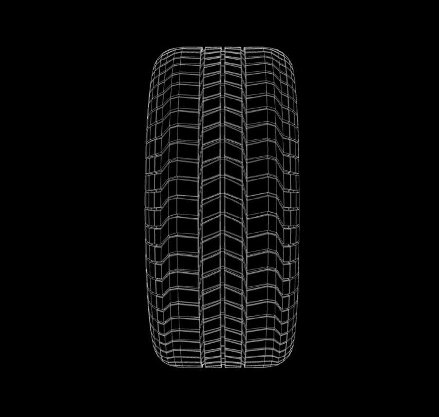 Rueda de Dayton royalty-free modelo 3d - Preview no. 9