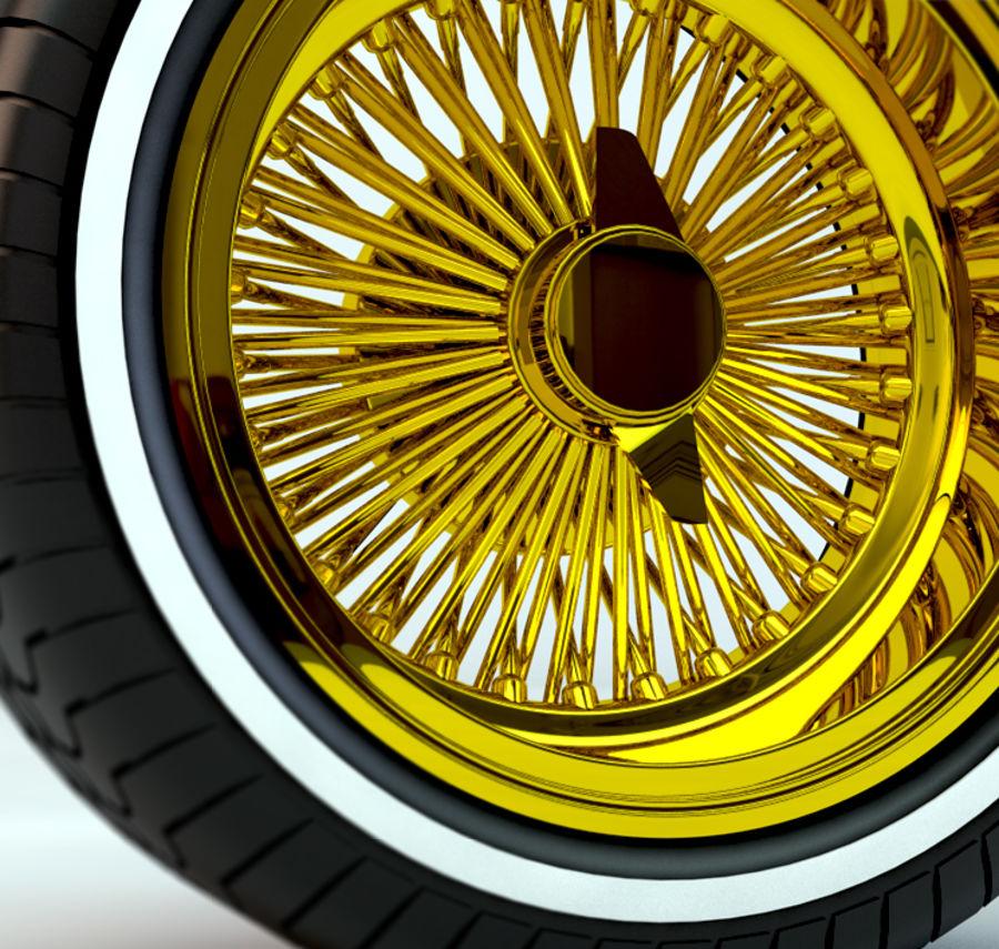 Rueda de Dayton royalty-free modelo 3d - Preview no. 4