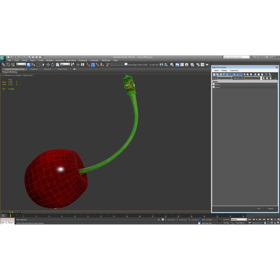 Cherry royalty-free 3d model - Preview no. 27