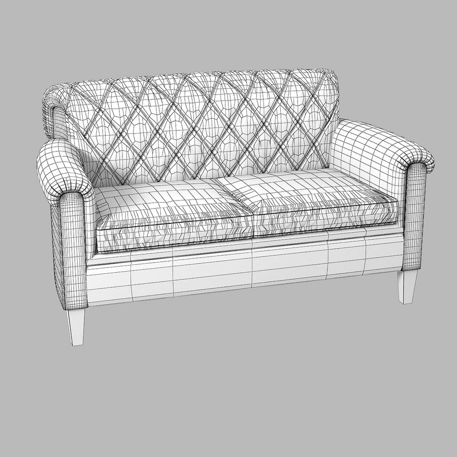 Tosato Furniture  Sofa royalty-free 3d model - Preview no. 4