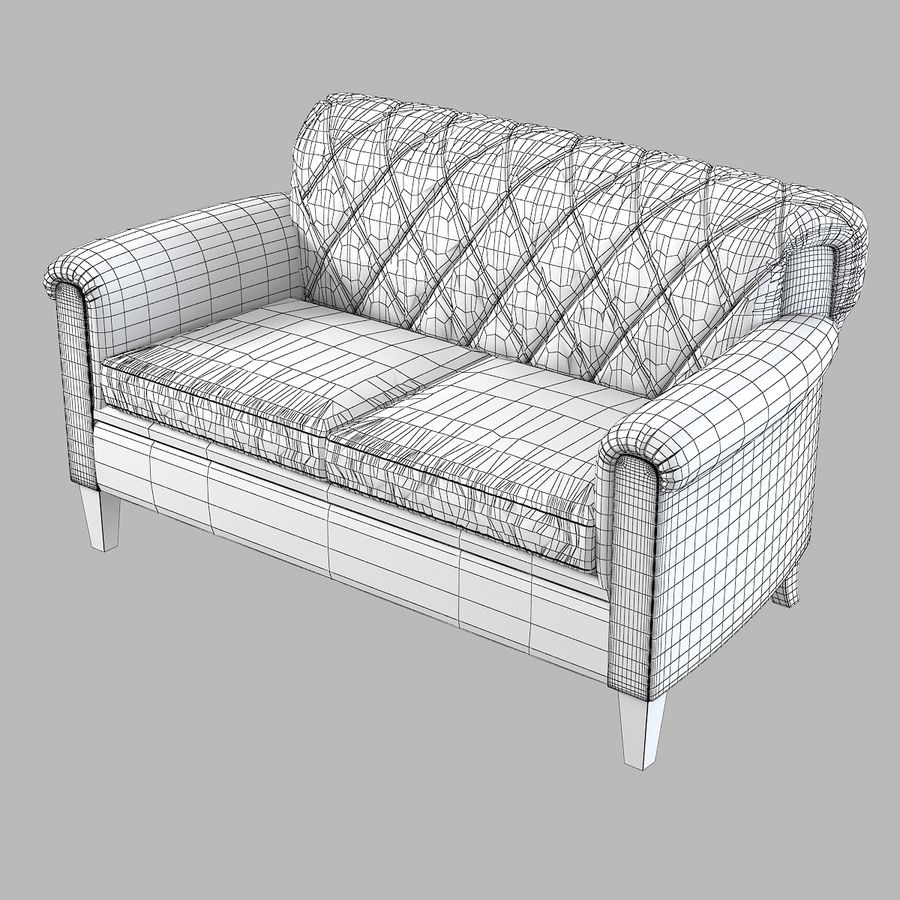 Tosato Furniture  Sofa royalty-free 3d model - Preview no. 5