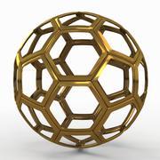 Voetbalkabel C goud 3d model
