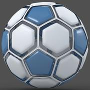 Soccerball dissasemblé bleu 3d model