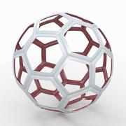 Voetbalkabel C rood 3d model