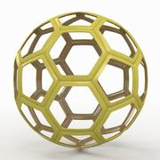 Voetbalkabel C geel 3d model