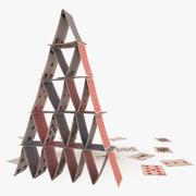 Покер Кард Анимированный Дом 3d model