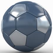 Soccerball SuperHighPoly bleu noir 3d model