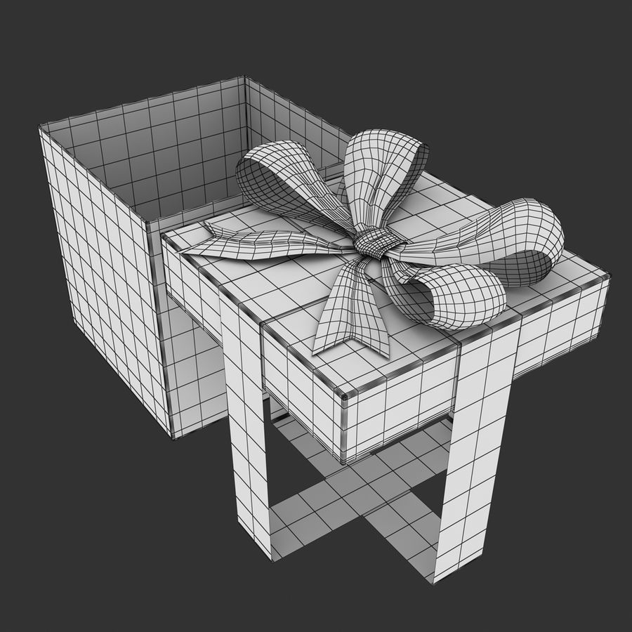 ギフト用の箱 royalty-free 3d model - Preview no. 12