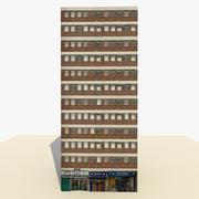 Edificio pronto per il gioco Low Poly High Rise Building 1 3d model