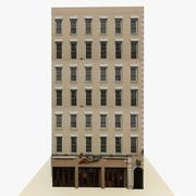 Готовый к игре низкополигональный высотный дом 3 3d model