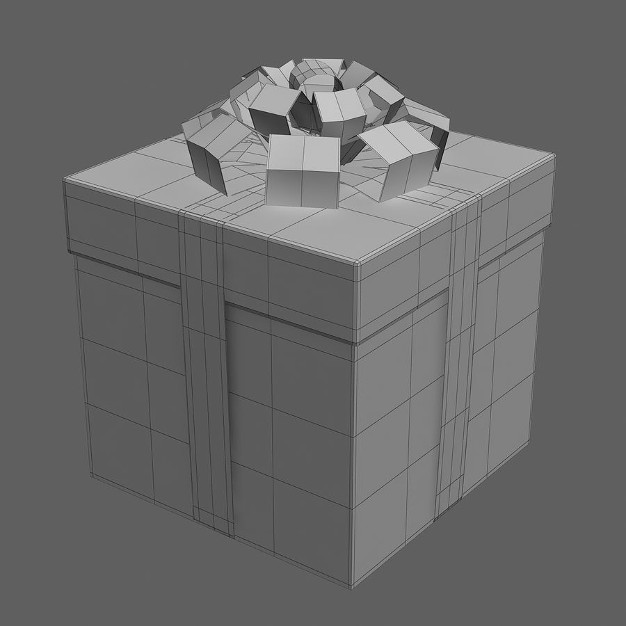 Geschenkbox rot royalty-free 3d model - Preview no. 7