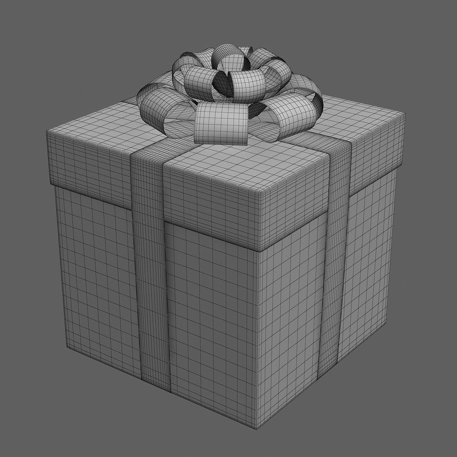 Geschenkbox rot royalty-free 3d model - Preview no. 6