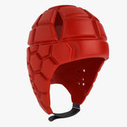 ラグビーヘルメット01 3d model