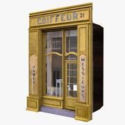 典型的巴黎商店门面8 3d model