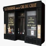 典型的巴黎商店门面9 3d model