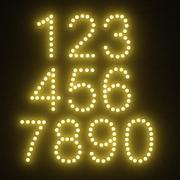 Números de bombilla modelo 3d