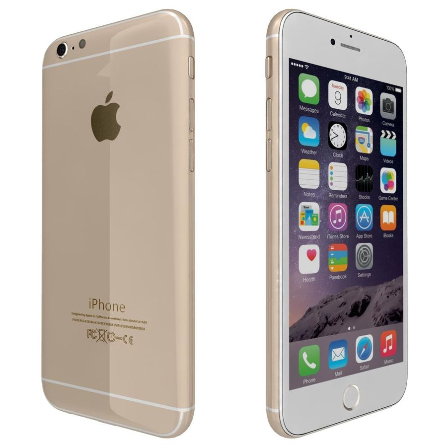 Apple iPhone 6 royalty-free 3d model - Preview no. 5