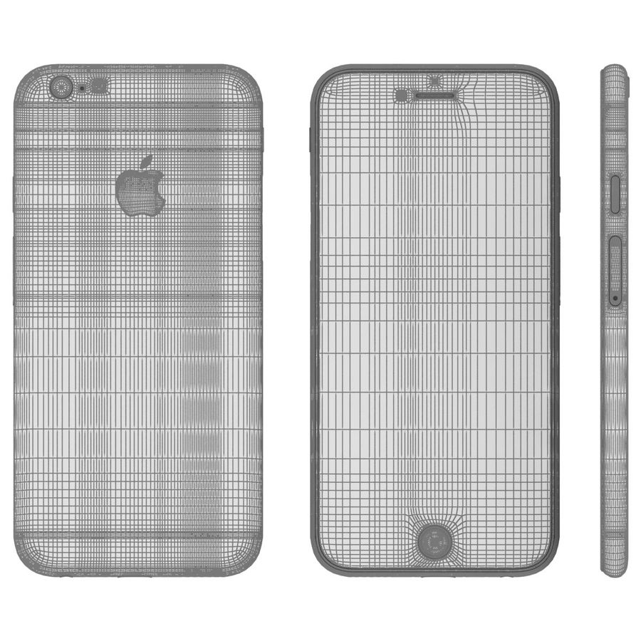 Apple iPhone 6 royalty-free 3d model - Preview no. 25
