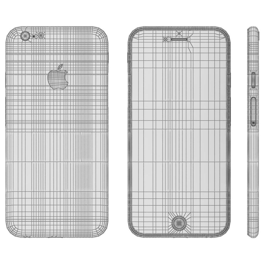 Apple iPhone 6 royalty-free 3d model - Preview no. 23