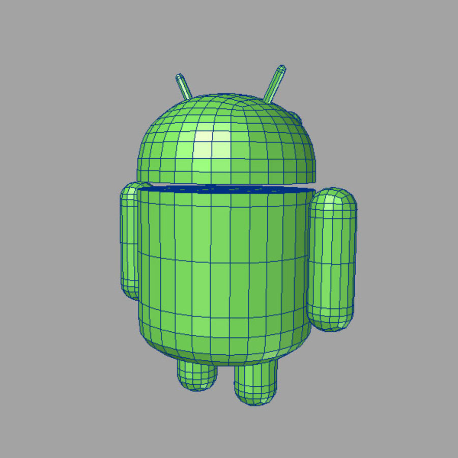 cartoon android logo royalty-free 3d model - Preview no. 7