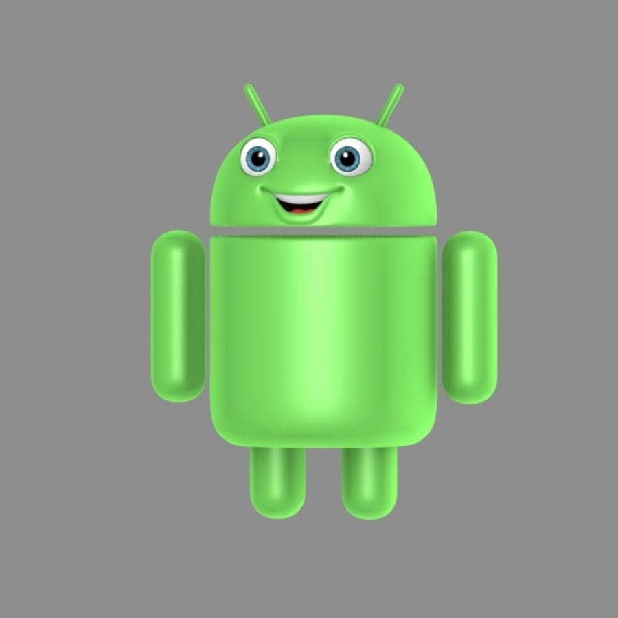 cartoon android logo royalty-free 3d model - Preview no. 2
