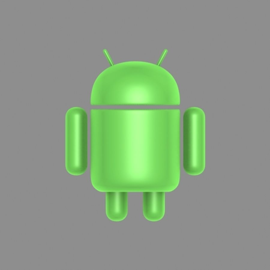 cartoon android logo royalty-free 3d model - Preview no. 5