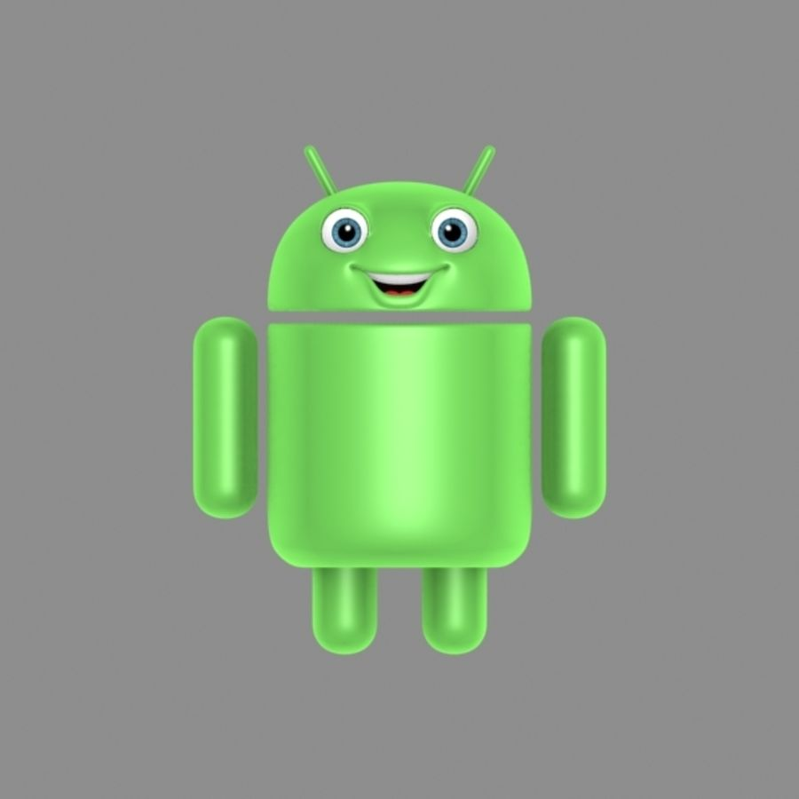 cartoon android logo royalty-free 3d model - Preview no. 3