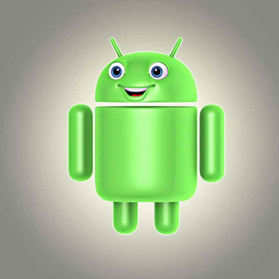 cartoon android logo royalty-free 3d model - Preview no. 1