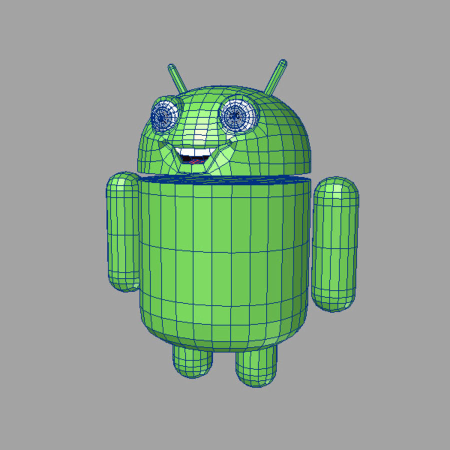 cartoon android logo royalty-free 3d model - Preview no. 6