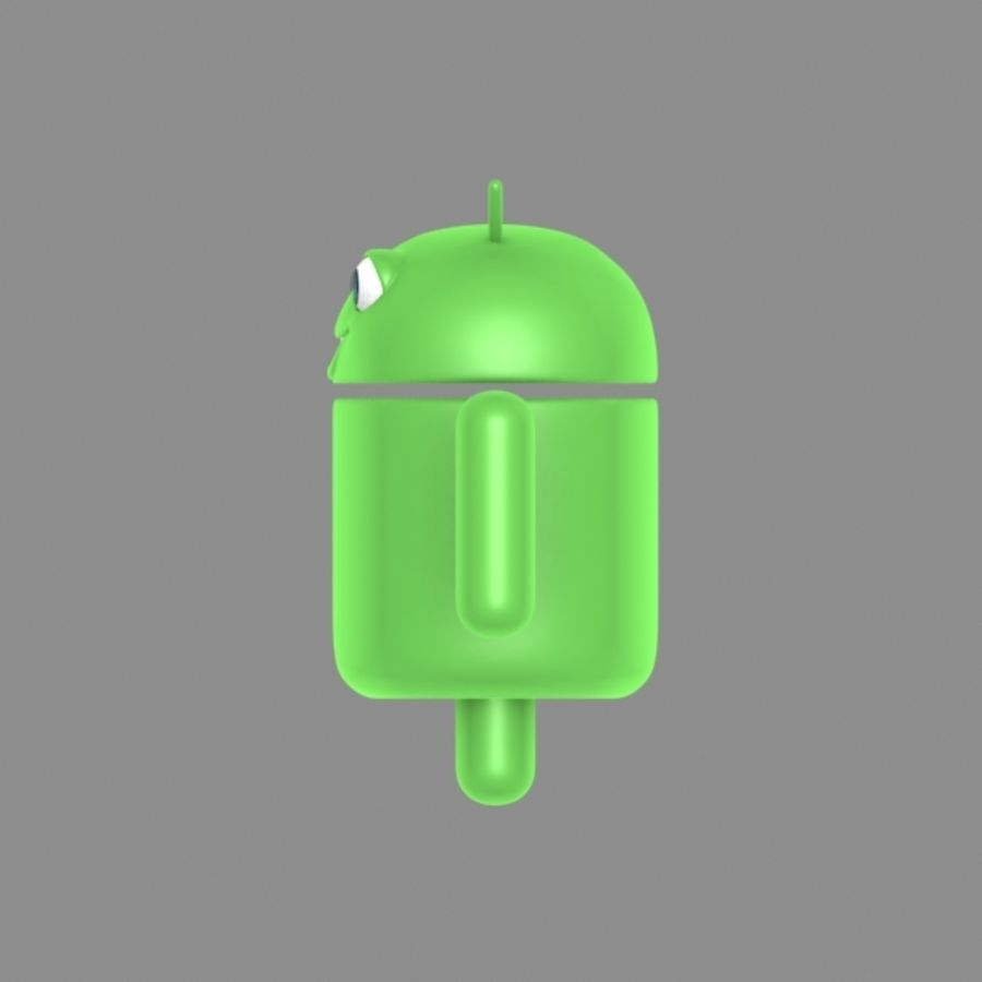 cartoon android logo royalty-free 3d model - Preview no. 4