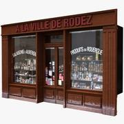 典型的巴黎商店门面6 3d model