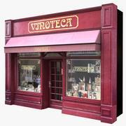 典型的巴黎商店门面15 3d model