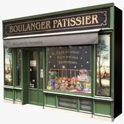 典型的巴黎商店外墙17 3d model