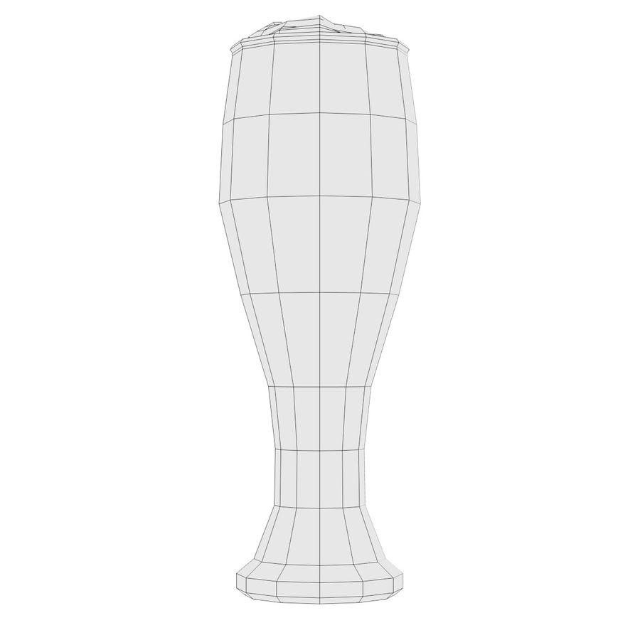 Cerveza en vaso royalty-free modelo 3d - Preview no. 4