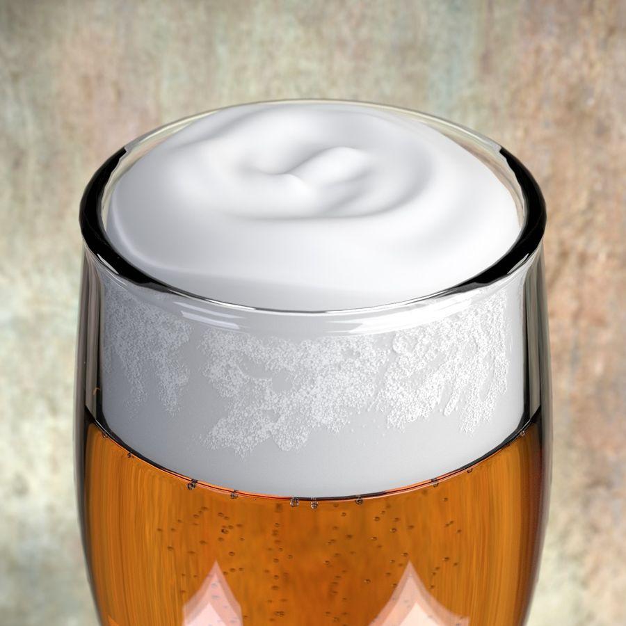 Cerveza en vaso royalty-free modelo 3d - Preview no. 3