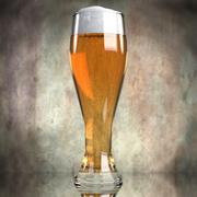 Beer in glass 3d model