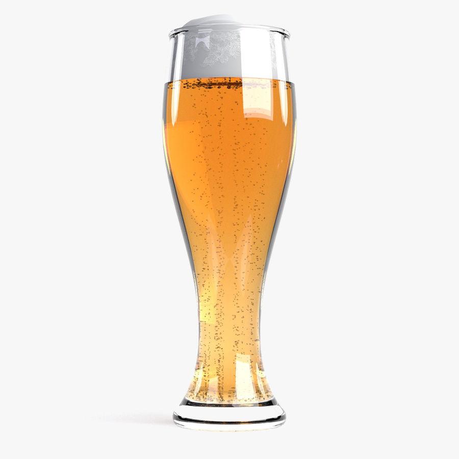 Cerveza en vaso royalty-free modelo 3d - Preview no. 2
