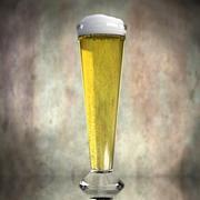 Piwo w szkle 6 3d model