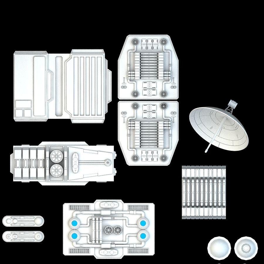 科幻小说机械零件 royalty-free 3d model - Preview no. 8