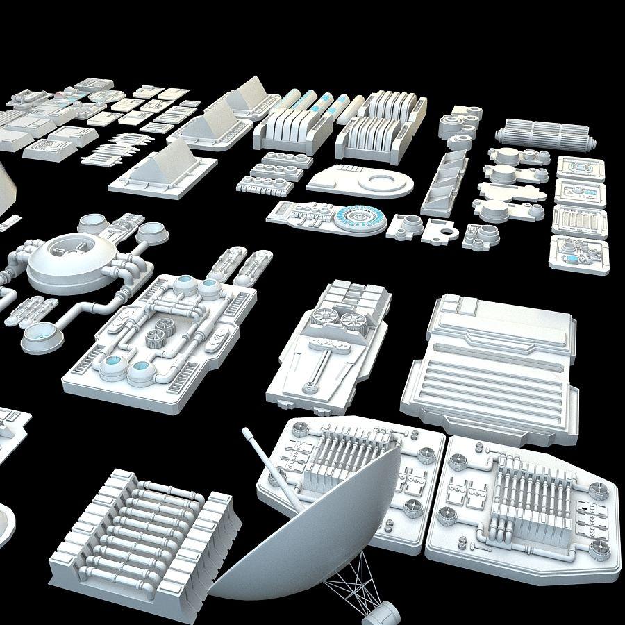 科幻小说机械零件 royalty-free 3d model - Preview no. 4