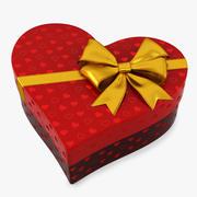 Gift Box heart 3d model