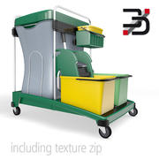 Cleaning cart 3d model