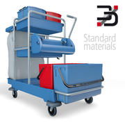 Cleaning cart Pro 3d model